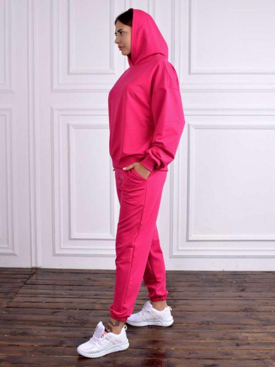 Трикотажные брюки и толстовка цвета фуксия