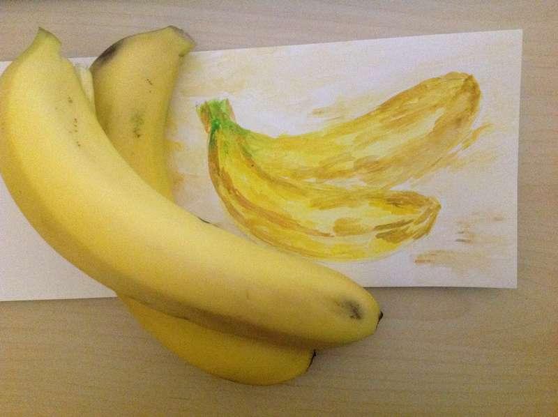 Акварельная кулинарная книга: Бананы